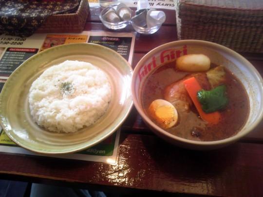 hirihiri スープカレー ランチ☆チキン(880円)
